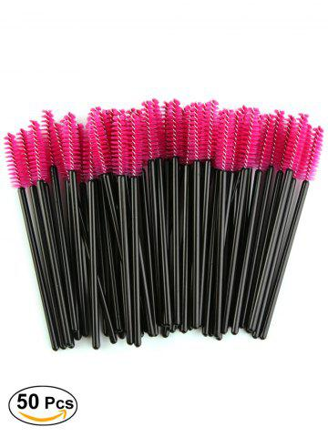 Fashion 50 Pcs Disposable Brow Eye Groomer Brushes RED