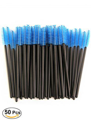 Cheap 50 Pcs Disposable Brow Eye Groomer Brushes BLUE