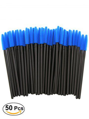 Shop 50 Pcs/Pack Disposable Silicone Eye Brow Groomer Brushes