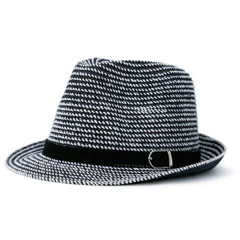 Cheap Woven Fedora Hat with Ribbon