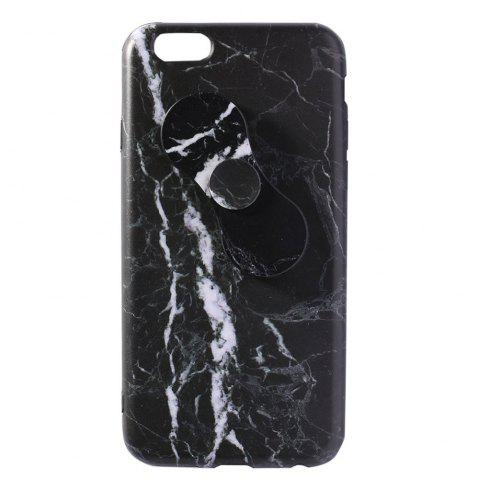 Chic Plastic Marble Print Finger Spinner Soft TPU IPhone Cover BLACK IPHONE 5
