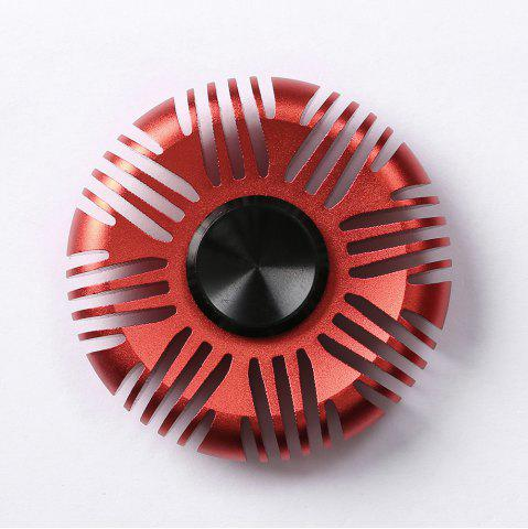 Cheap Fiddle Toy Aluminum Alloy Round Fidget Spinner RED