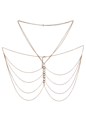 Unique Embellished Fringed Body Chain Jewelry - GOLDEN  Mobile