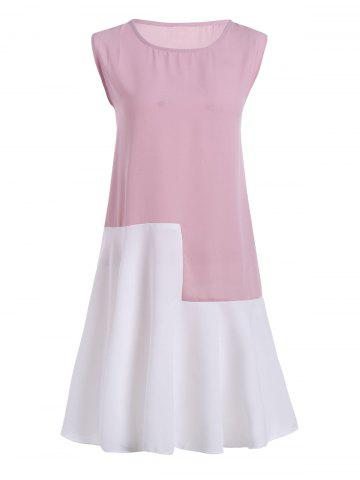 Robe manches sans manches taille grand taille Colorblock