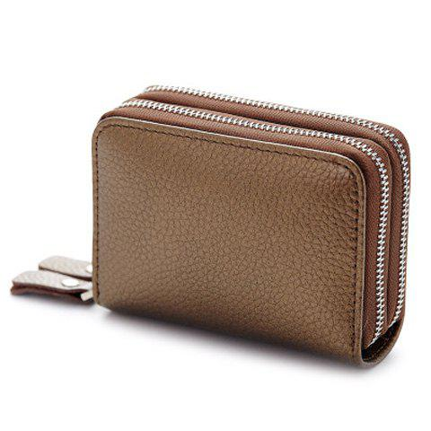 Fashion Zip Around Faux Leather Card Bag