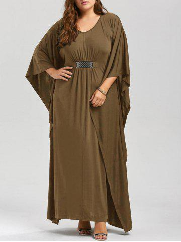 Store Plus Size Kaftan Maxi Dress KHAKI 4XL