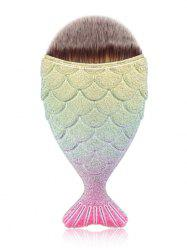 Brosse à maquillage facial MAANGE Portable Mermaid - Or Et Rose