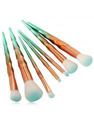 7Pcs Unicorn Conical Gradient Color Makeup Brushes Set - MINT