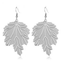 Alloy Tree Leaf Hook Earrings
