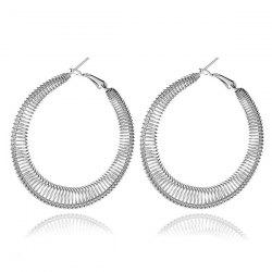 Spring Circle Hoop Earrings