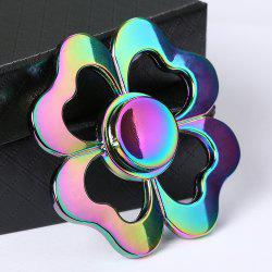 Four-leaf Clover Colorful Electroplated Metal Fidget Spinner - COLORMIX