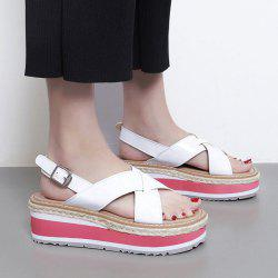Wedge Heel Patent Leather Sandals