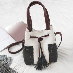 Color Block Tassel Handbag