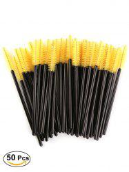 50 Pcs Disposable Brow Eye Groomer Brushes