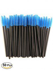 50 Pcs Disposable Brow Eye Groomer Brushes - BLUE