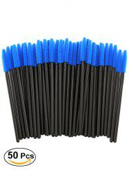 50 Pcs/Pack Disposable Silicone Eye Brow Groomer Brushes -