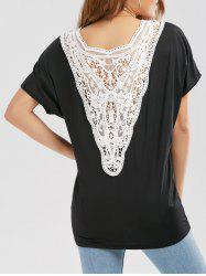 Lace Panel Oversized T-shirt