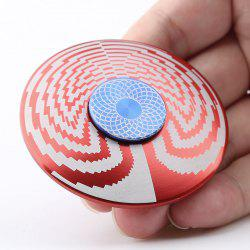 EDC Fidget Toy Disc Shape Finger Gyro Spinner - RED