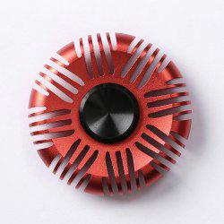 Fiddle Toy Aluminum Alloy Round Fidget Spinner - RED