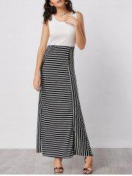 Stripe Maxi Bodycon Dress