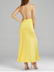 Open Back Maxi Slip Dress