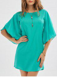 Petal Sleeve Shift Dress