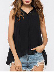 High Low Tunic Chiffon Top