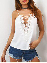 Lace Up Laciness Cami Top