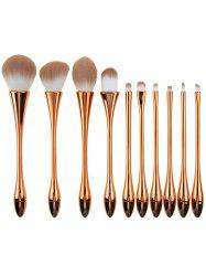 10Pcs Plating Waisted Teardrop Design Makeup Brushes Kit - ROSE GOLD