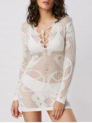 Crochet Mini Cover Up Dress