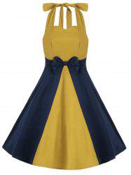 Vintage Bowkont Two Tone Halter Dress