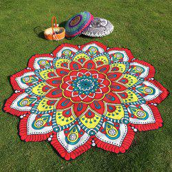 Ethnic Floral Printing Flower Design Beach Throw