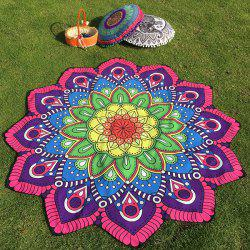 Ethnic Floral Printing Flower Design Beach Throw - TUTTI FRUTTI