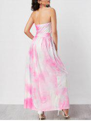 Strapless Ombre Long Formal Prom Dress
