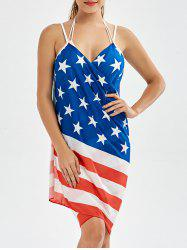 Sarong American Flag Patriotic Wrap Cover Up Dress