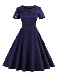Sequin Vintage Party Skater Dress