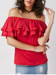 Ruffle Layered Off Shoulder Blouse