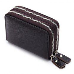 Zip Around Faux Leather Card Bag