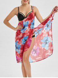 Hawaiian Convertible Floral Sarong Dress Wrap Cover Up