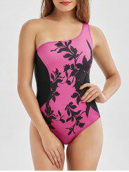 One Shoulder Padded One-Piece Swimsuit -