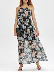 Robe Maxi taille haute taille - Floral S