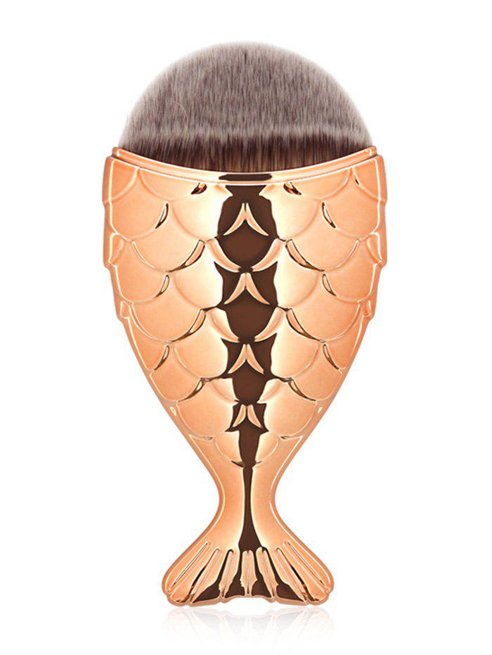 Portable Mermaid Facial Makeup BrushBEAUTY<br><br>Color: ROSE GOLD; Category: Foundation Brush; Brush Hair Material: Synthetic Hair; Features: Travel; Season: Fall,Spring,Summer,Winter; Length: Handle: 9.2CM  Hair: 2.5CM; Weight: 0.0250kg; Package Contents: 1 x Brush;