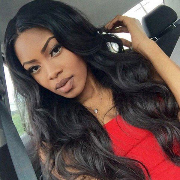 Perm Dyed Middle Parting Body Wave Long Synthetic Wig