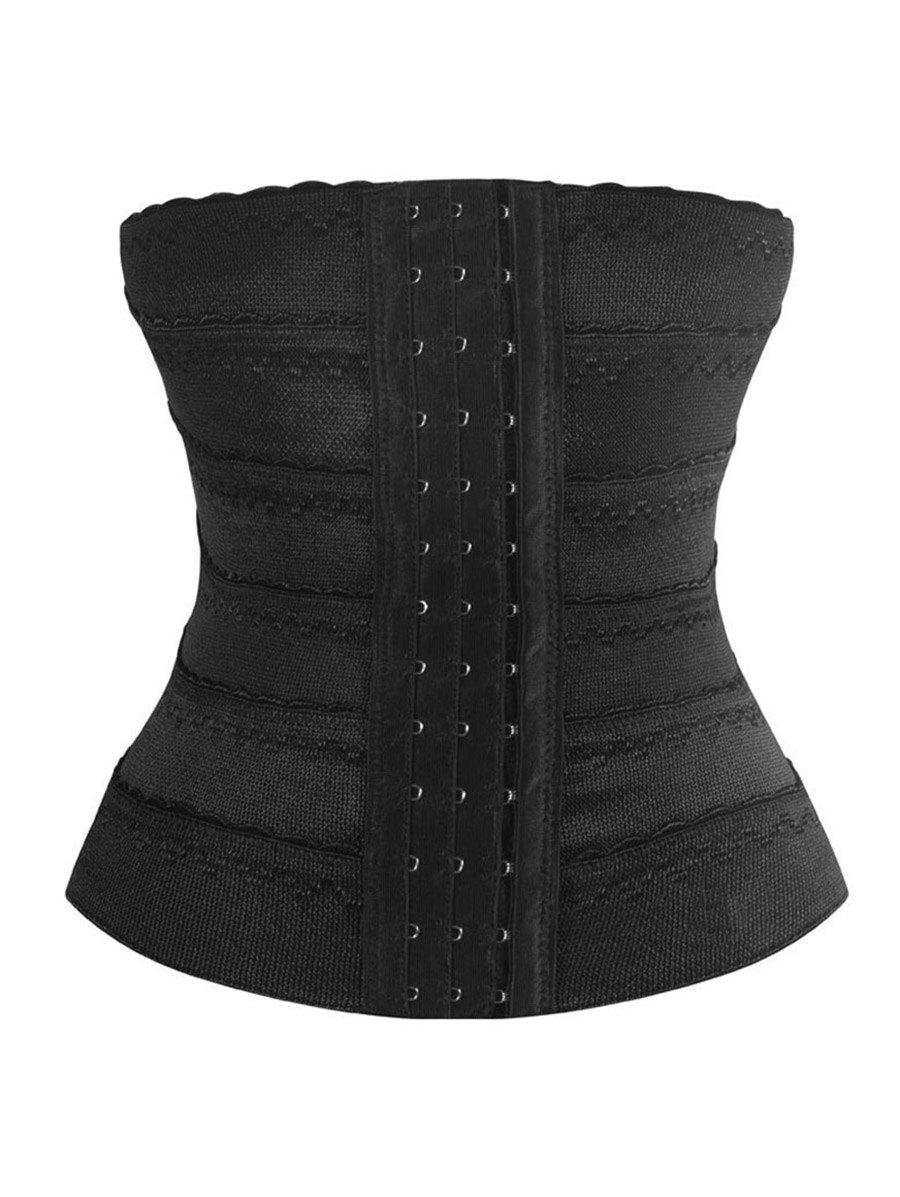 Steel Boned Scalloped Underbust CorsetWOMEN<br><br>Size: 2XL; Color: BLACK; Material: Polyester; Pattern Type: Solid; Embellishment: None; Weight: 0.2000kg; Package Contents: 1 x Corset;
