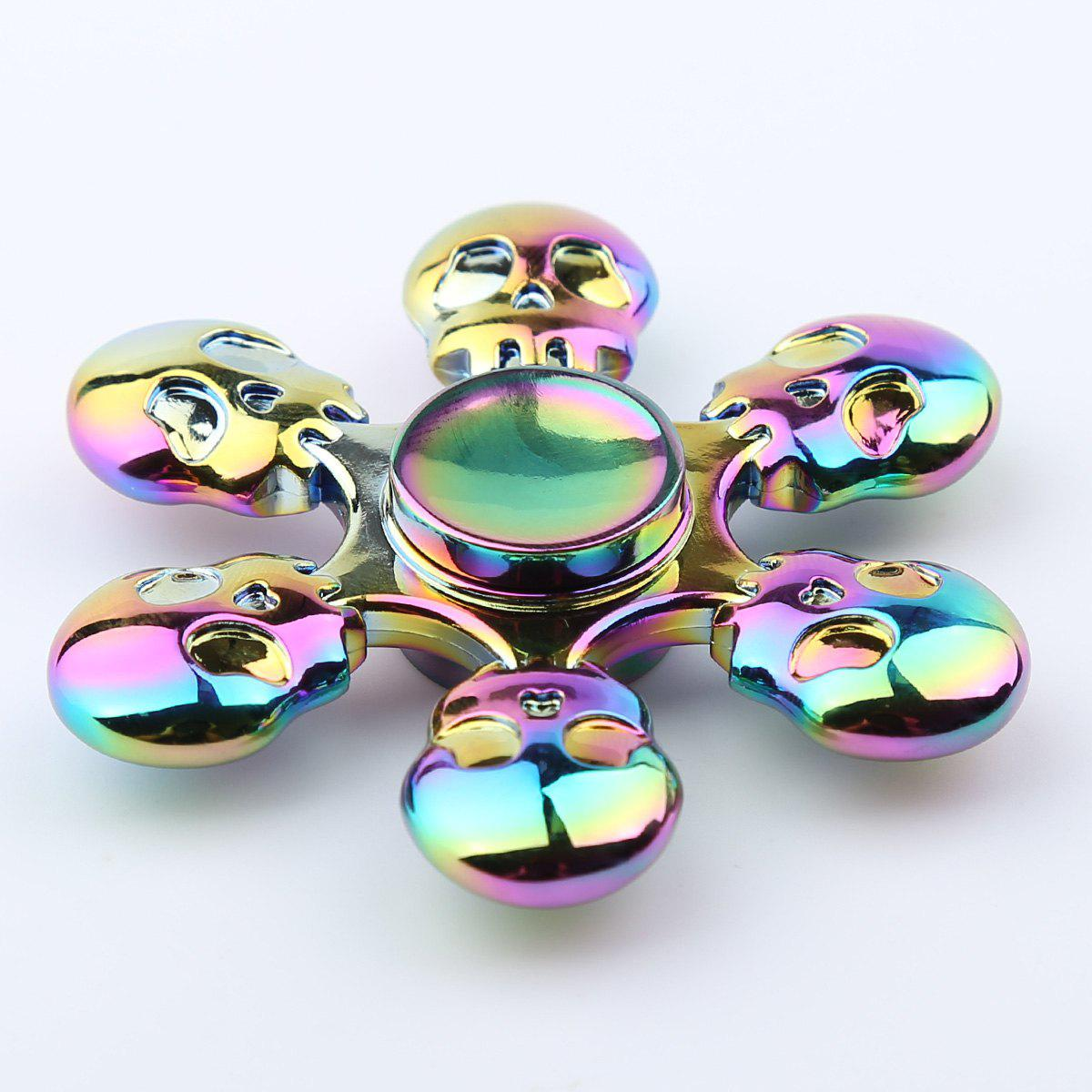 Fidget Toy Skull Blades Fast Bearing Hand SpinnerHOME<br><br>Size: 6.5*6.5*1.3CM; Color: COLORFUL; Products Type: Fidget Spinner; Theme: Funny; Frame material: Zinc Alloy; Features: Creative Toy; Shape/Pattern: Skull; Swing Numbers: 6; Weight: 0.0950kg; Package Contents: 1 x Fidget Spinner;