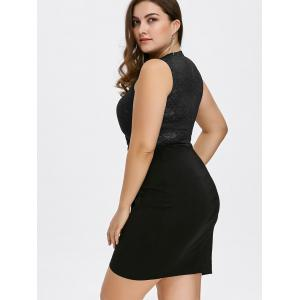 Keyhole Neck Plus Size Short Cocktail Dress -