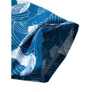 Short Sleeve Seagull Print Hawaiian Shirt -