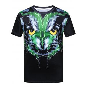 Creative 3D Print Short Sleeve T-shirt