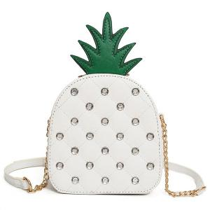 Pineapple Shaped Rhinestone Crossbody Bag