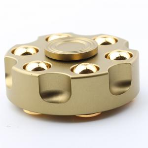 7 Mins Rotating Revolver Shape Fidget Metal Spinner Fiddle Toy - GOLDEN